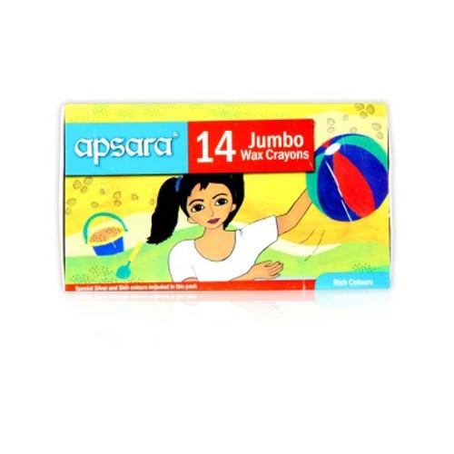 Apsara Jumbo Wax Crayons - 14 shades
