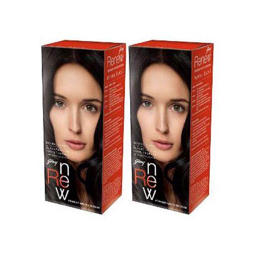 Godrej Renew Crème Hair Colour - Natural Black
