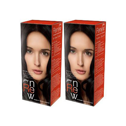 Godrej Renew Crème Hair Colour - Natural Black