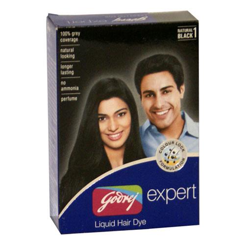 Godrej Expert Liquid Hair Dye - Natural Black