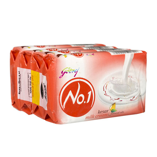 Godrej No.1 Kesar and Milk Cream Soap