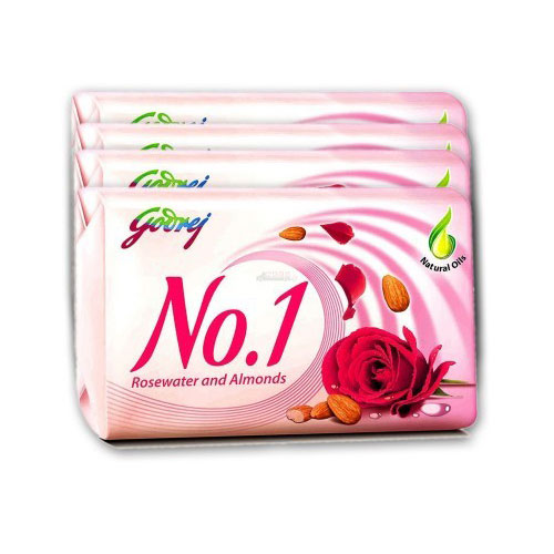 Godrej No.1 Rosewater and Almonds Soap