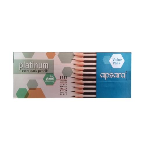 Apsara Platinum Pencil - Value Pack of 20