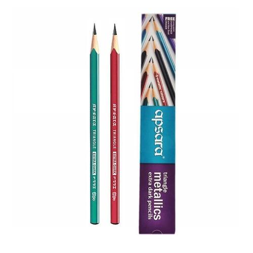 Apsara Triangle Metallic Pencils - pack of 10