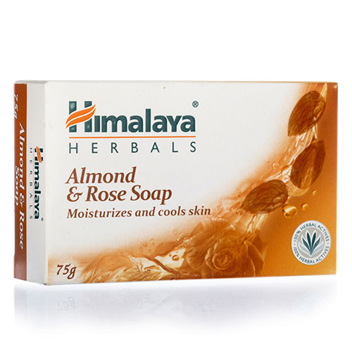 Himalaya Herbals Almond and Rose Soap - 75gm (Pack of 4)