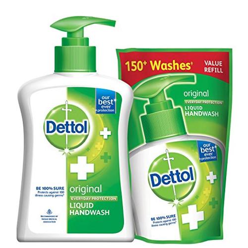 Dettol Liquid Original Hand Wash - Jar & Refill Combo