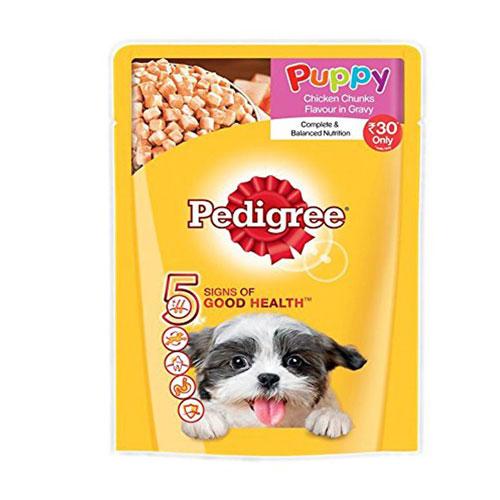 Pedigree Puppy Dog Food Chicken & Rice in Gravy