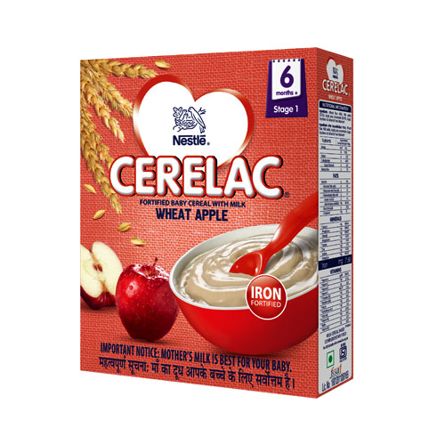 Nestle CERELAC Infant Cereal Stage-1 (6 Months+) Wheat Apple