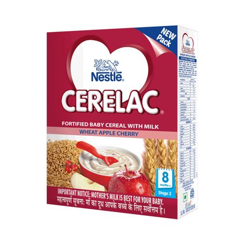 Nestle CERELAC Cereal Stage-2 (8 Months+) Wheat Apple Cherry