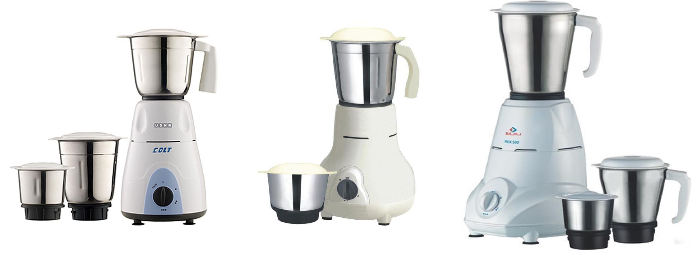 Bajaj Rex 500-Watt Mixer Grinder with 3 Jars