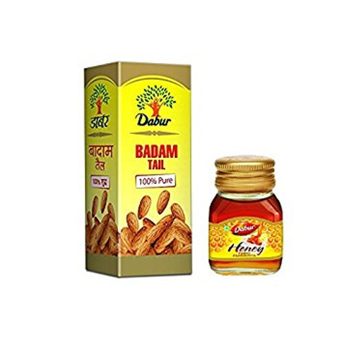Dabur Badam Tail - 50ml with Free Dabur Honey 50ml