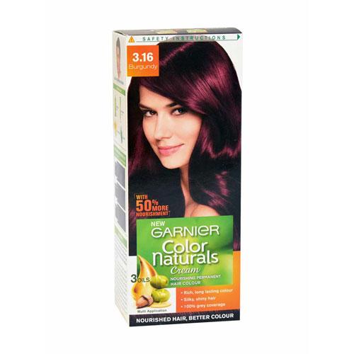 Garnier Color Naturals Cream - Hair Color (Burgundy 3.16)