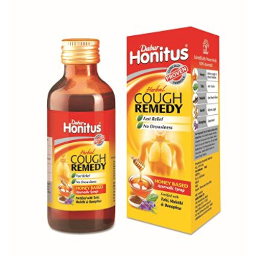 Dabur Honitus Herbal Cough Remedy Ayurvedic Syrup