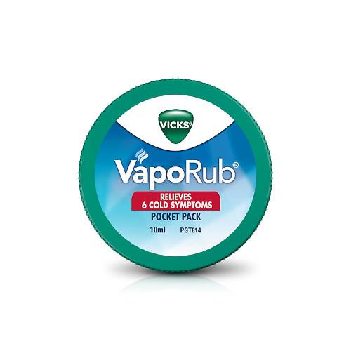 Vicks Veporub Pocket Pack 10ml (Pack of 12)
