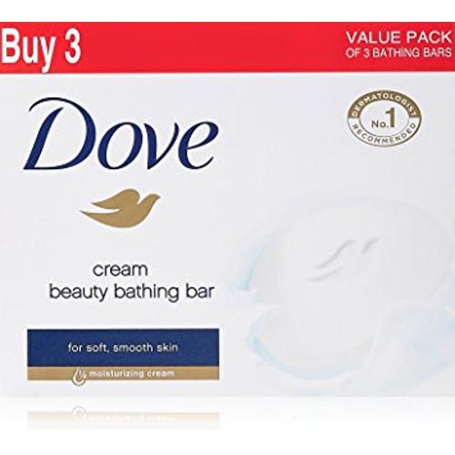 Dove Cream Beauty Bathing Bar - 75g (Pack of 3)