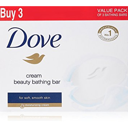 Dove Cream Beauty Bathing Bar - 75g (Pack of 3)