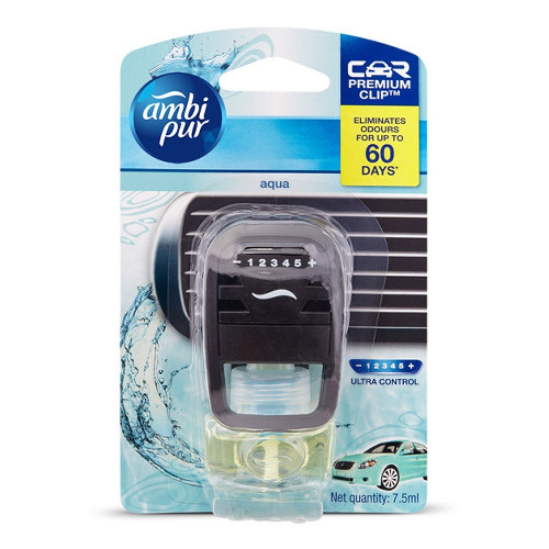 Ambi Pur Aqua Car Air Freshener Starter Kit (7.5 ml)