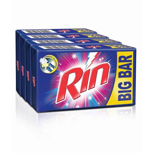 Rin Detergent Cake Value Pack -250g (Pack of 4)