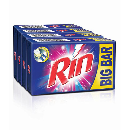 Rin Detergent Cake Value Pack -250g (Pack of 4)