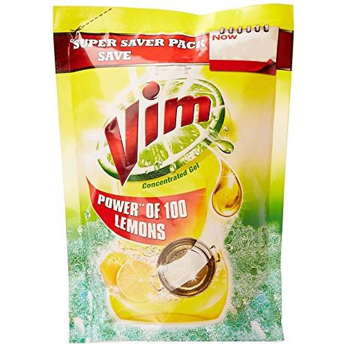 Vim Dishwash Gel - Lemon (Pouch)