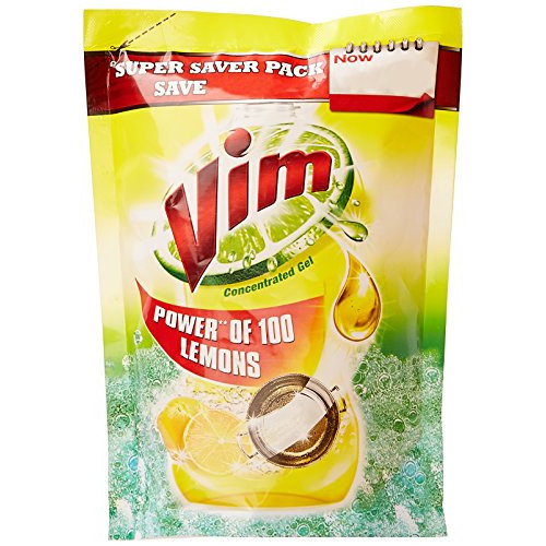 Vim Dishwash Gel - Lemon (Pouch)