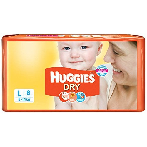 Huggies New Dry Diapers (Large )