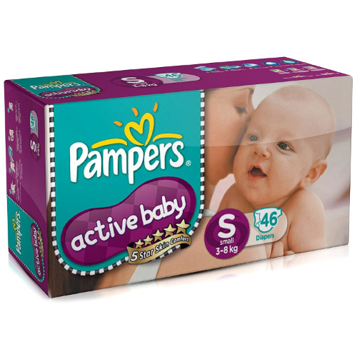 Pampers Active Baby Small Size Diapers