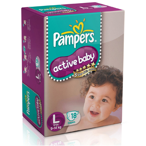 Pampers Active Baby Large Size Diapers