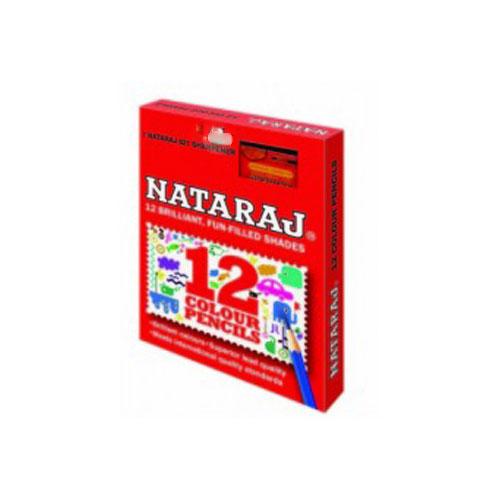 Nataraj Half Size Color Pencils - 12 Shades