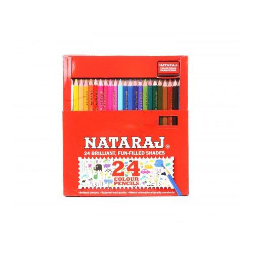 Nataraj Half Size Color Pencils - 24 Shades