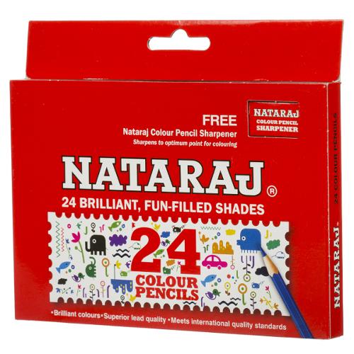 Nataraj Brilliant Fun-Filled Color Pencils - 24 Shades