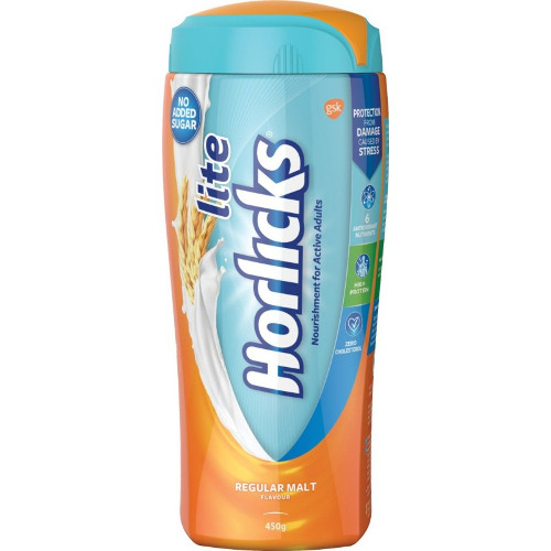 Horlicks Lite Health & Nutrition Regular Malt
