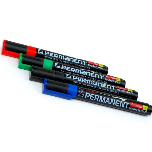 Camlin Permanent Marker - Pack of 4 Assorted Colors