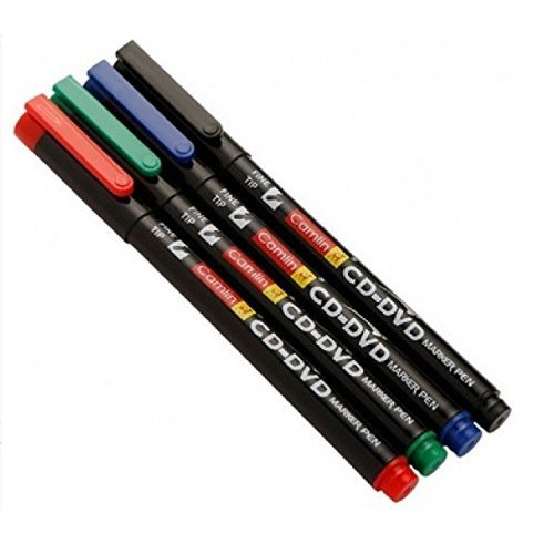 Camlin CD - DVD Marker Pen - Pack of 4 Assorted Colors