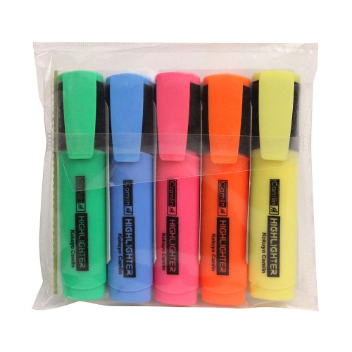 Camlin Office Highlighter - Pack of 5 Assorted Colors