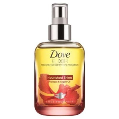 Dove Elixir Nourished Shine Hibiscus & Argan Hair Oil