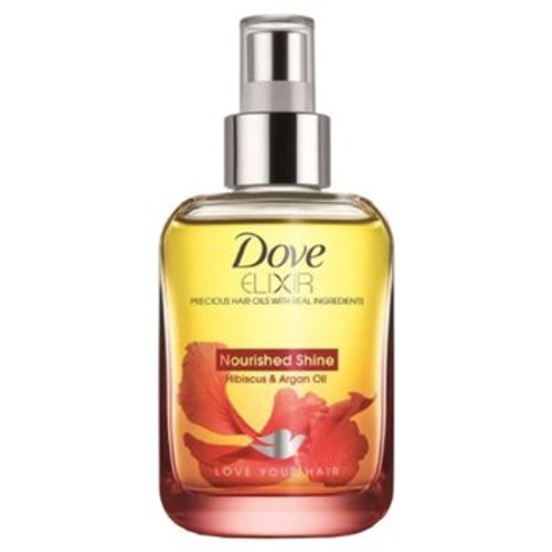 Dove Elixir Nourished Shine Hibiscus & Argan Hair Oil