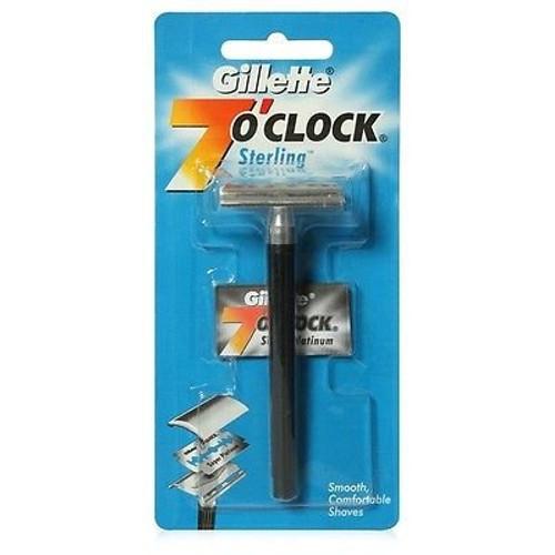 Gillette 7 O'Clock Manual Sterling Smooth Razor
