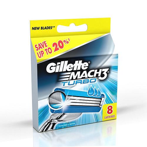 Gillette Mach 3 Turbo Manual Shaving Razor Blades