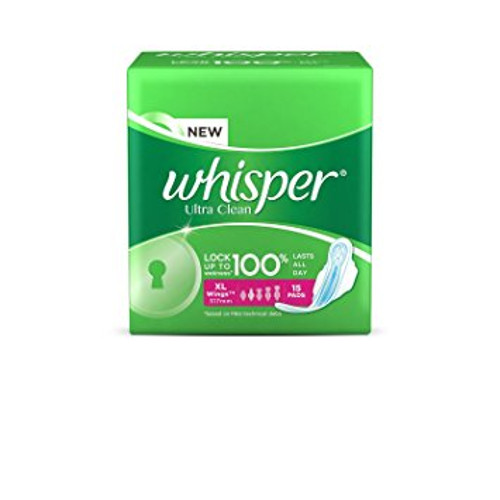 Whisper Ultra Clean Sanitary Pads - Extra Large Wings