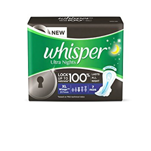 Whisper Ultra Night Sanitary Pads - XL Wings