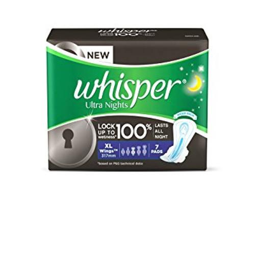 Whisper Ultra Night Sanitary Pads - XL Wings