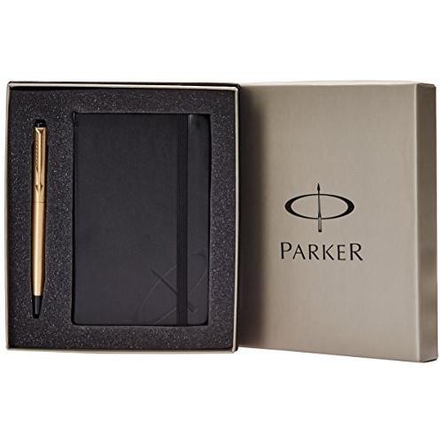 Parker Vector Chrome Goldtrim Roller Ball Pen + Notebook