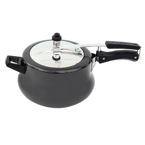 PNB Belly Hard Anodised Cooker - 3.5 Litres - Black