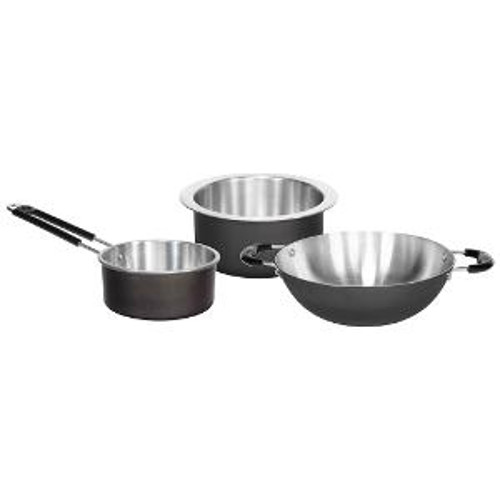 Everwel Aluminium Colored Cookware Set, 3-Pieces