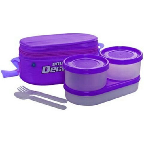 Milton Double Decker Lunch Box - Purple