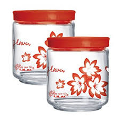 Cello Bellino 3 Color Jars Set - 450ml (Set of 2) - Red