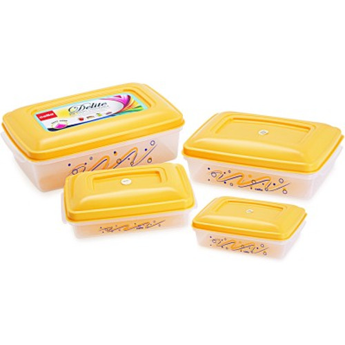 Cello Delite Container Set - (Set of 4) - Yellow