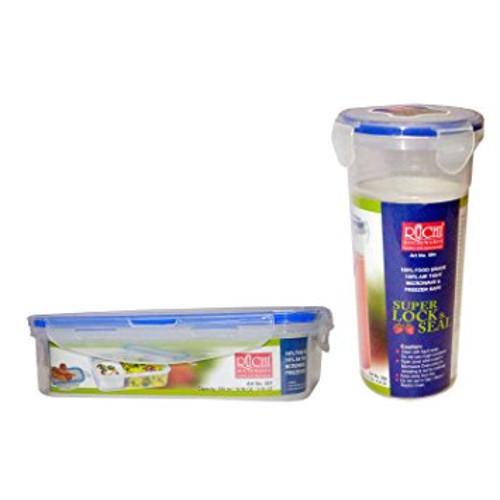 Ruchi Super Lock & Seal Lunch Box + Super Lock & Seal Glass