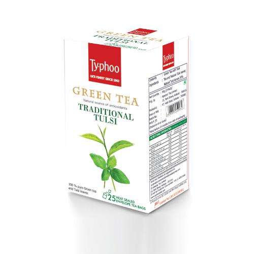Typhoo Green Tea, Tulsi 25 bags